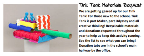 Tink Tank Needs You!